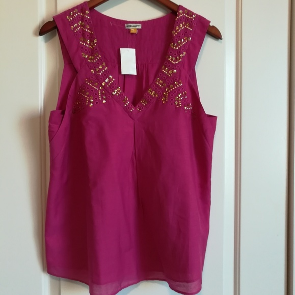 d575adcfb335e Anthropologie Tops - Nwt Anthro Leifsdottir Sleeveless Sequin Tank